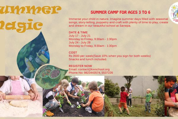 SUMMER CAMP FOR AGES 3 TO 6