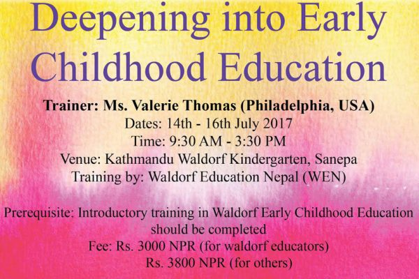 Deepening into Early Childhood Education